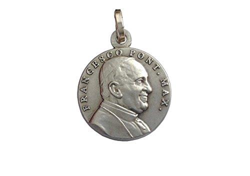 Medalla de Papa Francisco de Plata Maciza 925