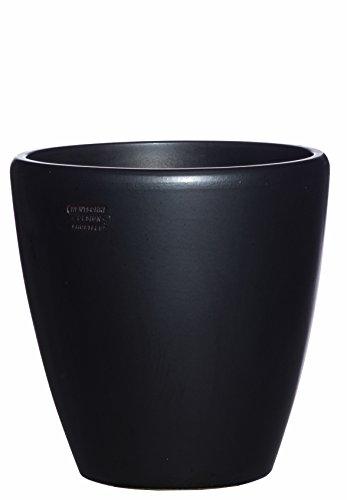 Hentschke Keramik Pflanztopf/Pflanzkübel frostsicher Ø 40 x 40 cm, Anthrazit, 029.040.70 Blumenkübel für Draußen + Innen - Made in Germany