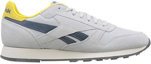 Reebok Cl Leather Mu, Zapatillas Hombre, Grau (Web-Steel/Urban Yellow/Blue Hills/Stucco/Grey 0), 44.5 EU