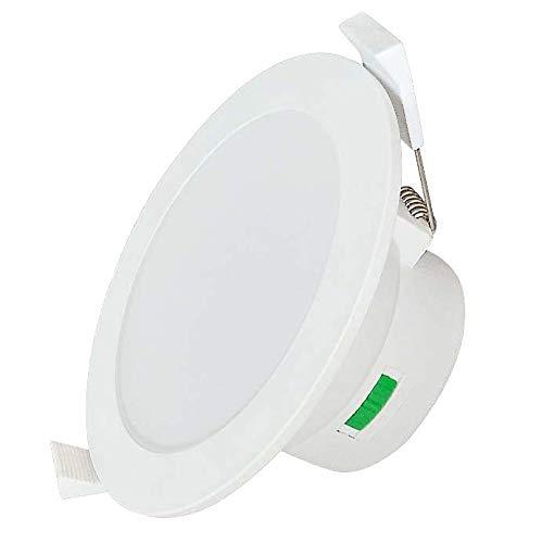 ZEYUN Luces Focos LED Empotrables Lamparas de Techo Downlights LED 10W, blanco cálido + blanco neutro + blanco frío ajustable, sin transformador, IP44, Ø113 mm