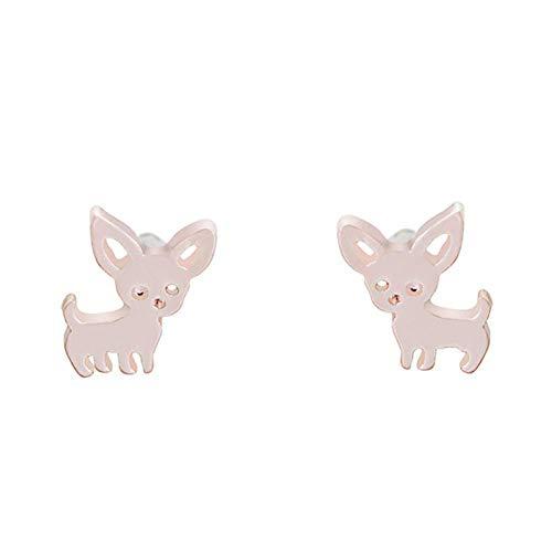 N/U PULABOFrauen 's Girls' Cute Puppy Chihuahua geformt Ohrstecker Ohrringe Schmuck Geschenk umweltfreundlich und praktisch