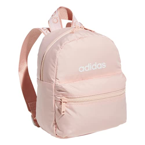 adidas Women's Linear 2 Mini Backpack Small Travel Bag, Vapour Pink/White, One Size