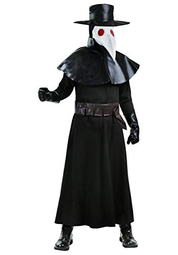 Plague Doctor Costume for Adults Black Death Doctor Costume Large