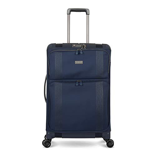Antler Titus, Super-Strong, Durable & Lightweight Soft Shell Suitcase (Medium, Navy)