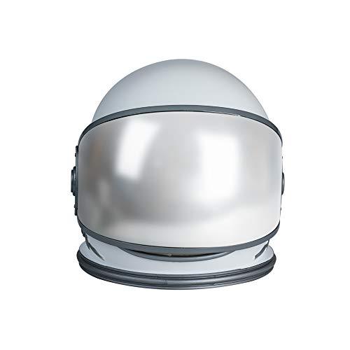 Dailygocn Casco de Astronauta Blanco Visera Mvil para Nio Adulto Casco a Prueba de Viento para Cosplay Carnival
