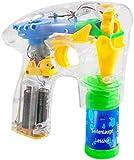 Monsterzeug Seifenblasenpistole mit LED Beleuchtung, Bubble Gun als Spielzeug für Kinder oder als...