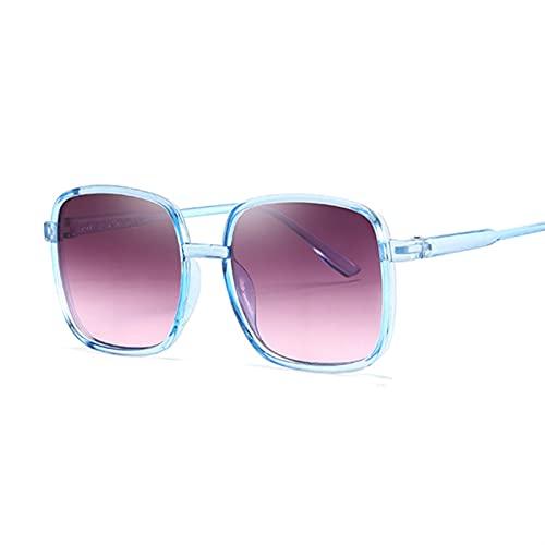 YUANBOO Gafas De Sol Cuadradas De Gran Tamaño Mujeres Degradado Transparente Gafas De Sol Grande Marco Vintage Gafas UV400 Gafas para Dama (Lenses Color : BlueGray)