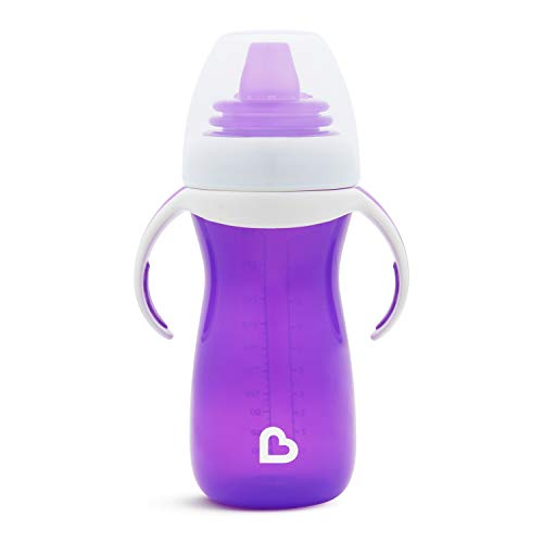 Munchkin Gentle Transition Sippy Cup with Trainer Handles, 10 oz, Purple