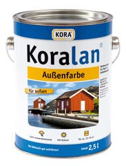 10l Profifarbe; Koralan Außenfarbe (Schwedenrot)