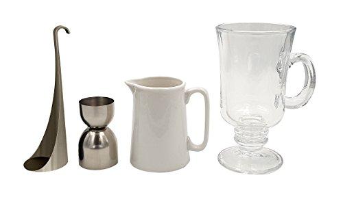 Cookut Ico Irish Coffee, prepara un perfetto caffè irlandese a casa, strumento speciale per stratificazione incluso, set completo, ideale per tutti i