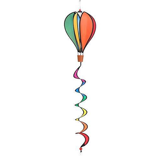 HQ Hot Air Balloon Twist Mini Rainbow Girouette, Multicolore, 23 x 23 x 92 cm