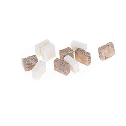 Mini Terrarium - 10 Steen Pavement Miniatuur Hars Fee Tuin Micro Landschap Ambachten Bonsai Terrarium Supply - Mensen Figurines Miniaturen Figurines Miniaturen Miniatuur Decor Stone