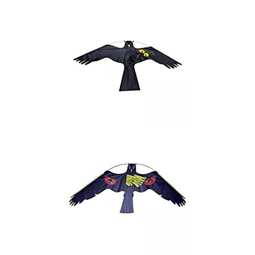 MERIGLARE Lote de 2 Espantapájaros de Jardín Repelentes de Cometas con águila Voladora Grande