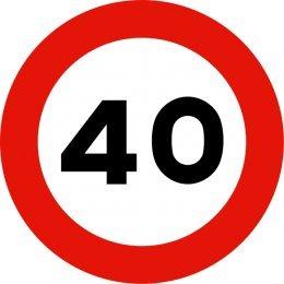 Señal metálica 50 cms (Chapa plana económica) R-301 Velocidad Máxima 40