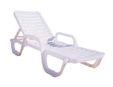 Grosfillex Bahia Resin Chaise - 44031004 (6 pack)