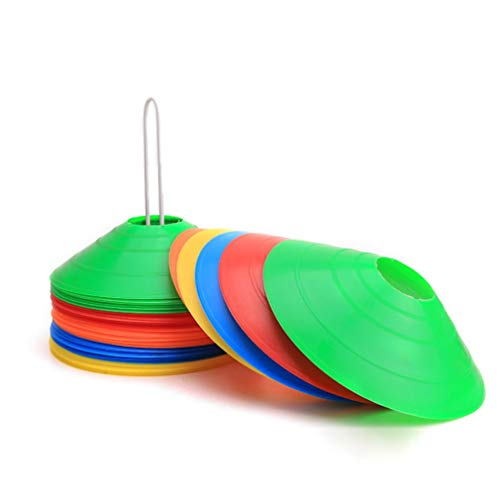 Kuyoly Markierungshütchen, Hütchen Fussball, Markierungsteller, für das Hütchen Training im Fussball, Hockey, Handball oder Trainingshilfe für Koordination