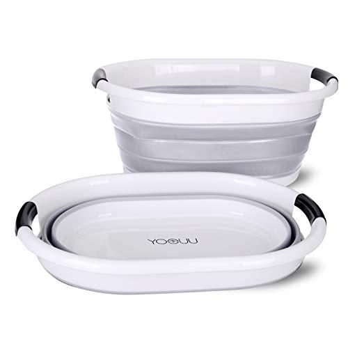 yoouu Wäschekorb Faltbar - Klappbarer & Wasserdichter XXL Premium Waschkorb - bis 9 kg Wäsche - GRAU