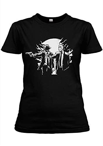 Pulp Friday Girlie Movie Jason Freddy Horror Pulp Fun Fiction Cult TV T-Shirt Man T-Shirt 100% Cotton Sleeve Shirt Black XXL