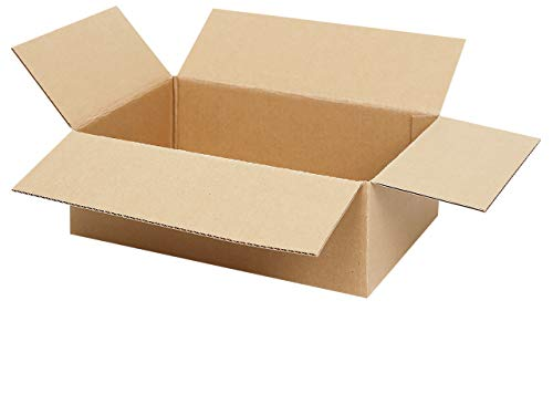200 Faltkartons 300 x 200 x 100 mm | Versandkarton geeignet für Versand mit DHL, DPD, GLS und Hermes | 25-1000 Kartons wählbar