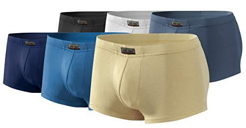 Sesto Senso® boxershorts heren bamboe 1er 6er 12-pack slips van bamboevezels heren retroshorts onderbroek met voering mini boxers