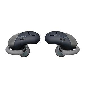 Sony SP700N Wireless Noise Canceling Sports in-Ear Headphones Black WF-SP700N/B (Renewed)