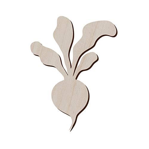 Juego de 10 rábano de madera para manualidades y decoración, collar de rábano, colgante de rábano, pendientes de rábano, 9.4x12.7 cm