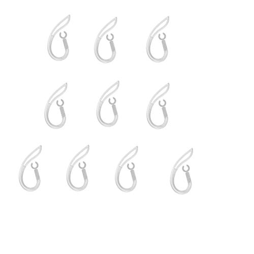 Homyl 10 unds Clips de Auriculares de Silicona Bluetooth Accesorios de Audio Video - Claro Bluetooth 6mm