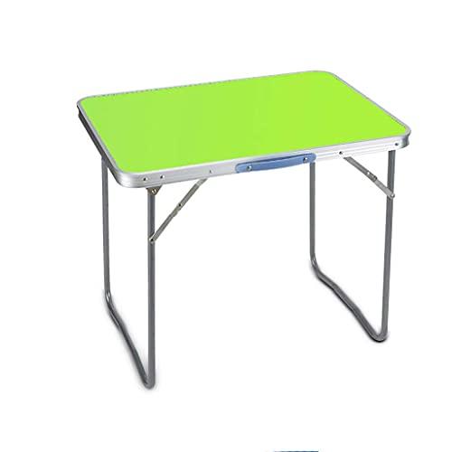 Mesa plegable para computadora y silla, escritorio para estudiantes, mesa de trabajo, mesa plegable al aire libre (color verde)