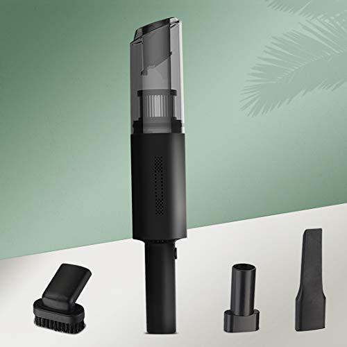 ハンディクリーナー 超軽量0.4KG 分体回転ロックデザイン 小型 車用掃除機 ハンディ コードレス 充電式 9500PA吸引力 USB急速充電(ブラック)