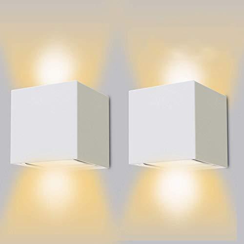 ledmo 12W LED Wandleuchten 2er Pack Modern High Bright Wandlampen innen 2700-3000K Warmweiß Wandlampe mit Einstellbar Abstrahlwinkel Wandleuchte Aussen Led IP65 wasserdichte