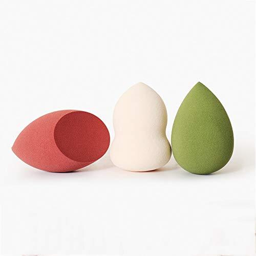 Drametree Puff Sponge Beauty Egg Makeup Maquillage de Couleur Oeuf Puff Soft Q Bomb Maquillage sur la Robe (3 œufs + Monture en métal + Solution de Nettoyage)