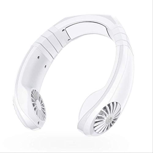 SUNHAON USB Portable 2 In 1 Luftkühler, Mini Elektrische Klimaanlage Halsventilator, 6 Stunden 1800mah Super Batterie Lebensdauer Weiß