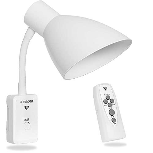 Portalámparas E27 Lampara Enchufe Adaptador con Interruptor Remoto Inteligente Enchufe de la UE Enchufable Flexible LED Lámpara de Pared Adaptador (Sin Bombilla)