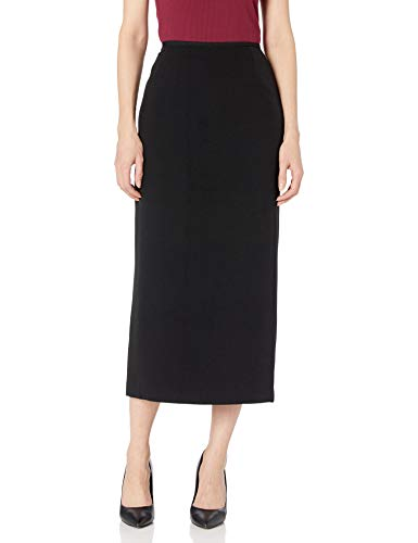 Kasper Women's Stretch Crepe Column Skirt, Black, 14