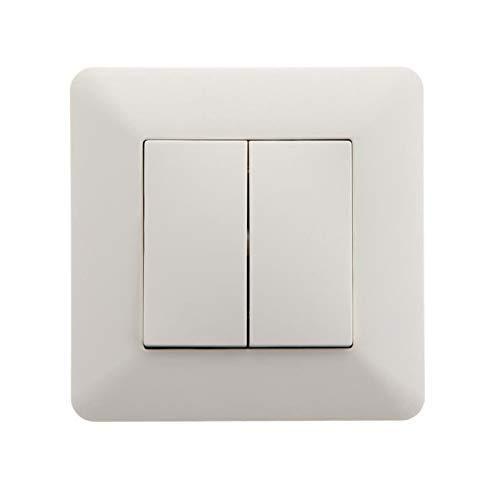 Interrupteur Va et Vient double 10A Blanc