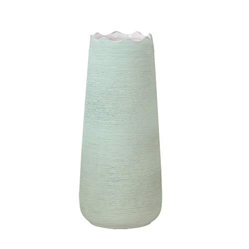 Hetoco 20cm Verde Decorativos Modernos Ceramica Jarrones de Flores para Mesa de Comedor Sala de...