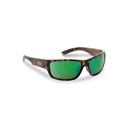 Flying Fisherman 7701TAG Matecumbe Polarized Sunglasses, Tortoise Frame, Amber-Green Mirror Lens