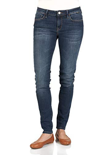 Mavi Damen Jeans Jeanshose Adriana - Super Skinny Fit - Blau - Dark Indigo STR W24-W34 Stretchjeans Röhrenjeans Röhre 100% Baumwolle, Größe:W 28 L 34, Farbvariante:Dark Indigo STR (0220)