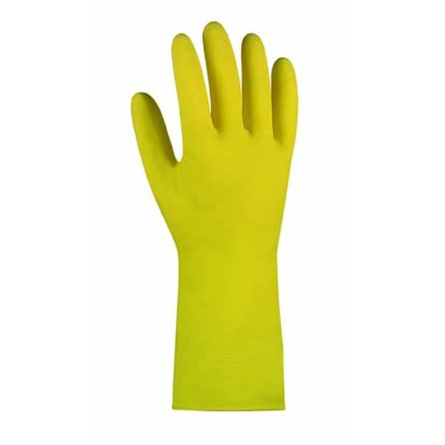 Texxor Haushaltshandschuhe , velourisiert, gelb , Standardqualität 10 Paar im Polybeutel Gr.10