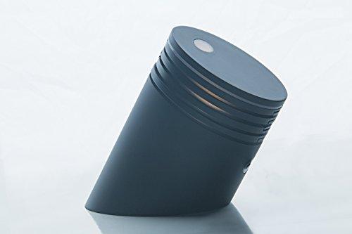 Skála: an Artistic LED Desk Light/Night Light/Mood Light Designed by Landlite (Metallic Gray Finish+Nature White Light)