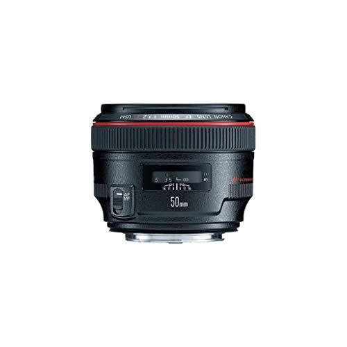 Canon EF 50mm f/1.2L USM - Objetivo para Canon (Distancia Focal Fija 50mm, Apertura f/1.2-16, diámetro: 72mm) Negro (Reacondicionado)