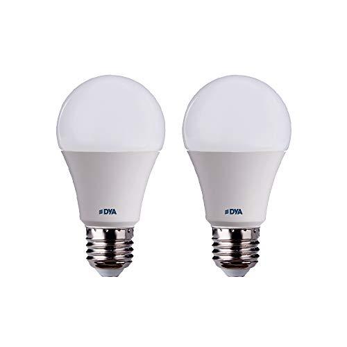 DYA - Juego de 2 bombillas LED A60 con sensor de movimiento...