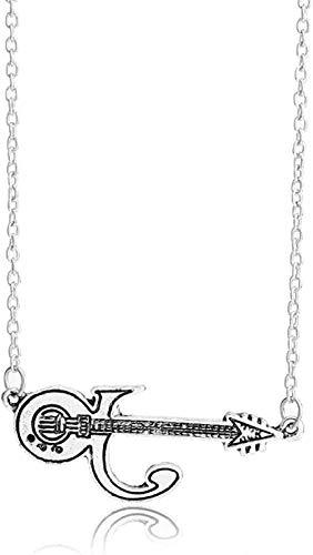 Yiffshunl Halskette Halskette Punk Prince Gitarre Halskette und Anhänger Männer Frauen Zubehör Prince's Memory Halskette Geschenke Halskette Anhänger Kette für Frauen Männer