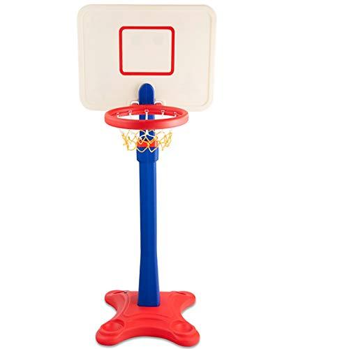 COSTWAY Canasta de Baloncesto para Niño Soporte de Baloncesto Altura Ajustable Jueguete para Interior y Exterior para Niños 3-8 Años