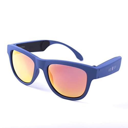RHSMW Gafas Inteligentes de conducción ósea, Gafas de Sol polarizadas Bluetooth 5.0 UV400, táctiles inalámbricos Impermeables para Deportes al Aire Libre Que se Pueden equipar con miopía,c