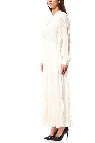 rick cardona by heine Kleid Damen Maxikleid Spitzenkleid Abendkleid Weiß, Größenauswahl:21