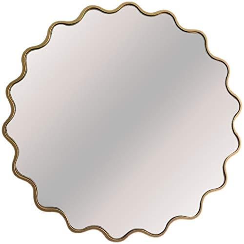 Espejo De Pared Decorativo, Espejo Colgante Circular, Baño, Lavabo, Sala De Estar Y Entradas (Dorado) Y