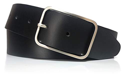 almela - Cinturón de hombre y mujer - Piel legitima - Vaquetilla - 4 cm de ancho - Cuero - 40mm - Vaqueros, Jeans, Trajes, Vestidos…