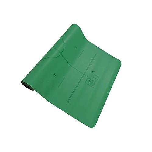 Friends of Meditation Eco Friendly Non Slip Body Alignment Rubber Yoga Mat (Green)