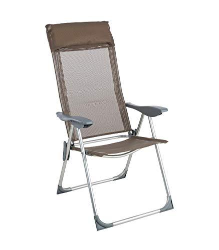 AC-Déco Be Toys – klapstoel voor camping, aluminium, 5 posities, taupe cm grijs.